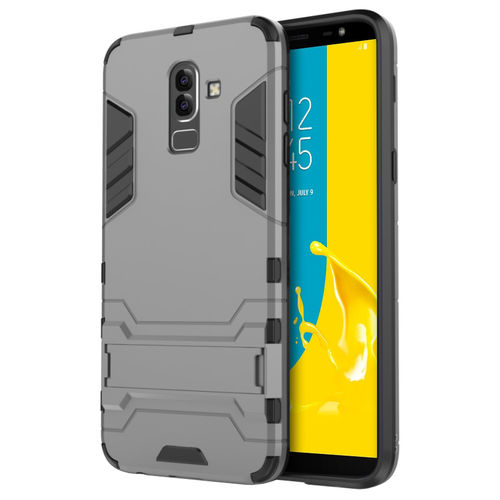 Slim Armour Tough Shockproof Case for Samsung Galaxy J8 - Grey